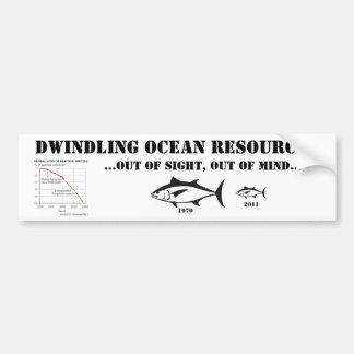 Dwindling Ocean Resources Bumper Sticker