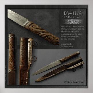 Dwine — Broadseax by Jake Powning Poster