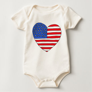 DX- Patriotic Heard Baby Outfit Baby Bodysuit