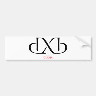 dxb - Dubai Etiqueta De Parachoque