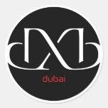 DXB Dubai Etiquetas Redondas