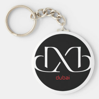 DXB Dubai Basic Round Button Keychain