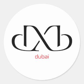 dxb - Dubai Pegatina Redonda