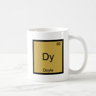 Dy - Camiseta divertida del símbolo del elemento Taza Clásica