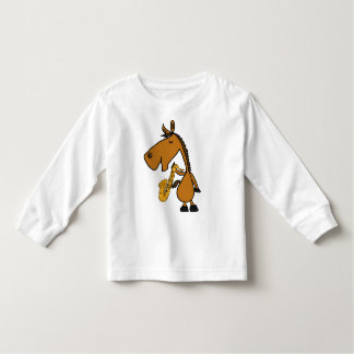 DY- Cool Horse and Saxophone Shirt