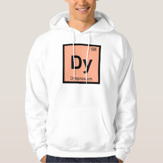 Dy - Dysprosium Chemistry Periodic Table Symbol Hoodie
