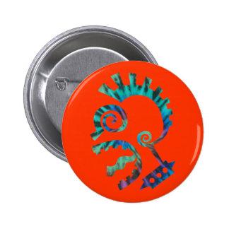 Dye Tie Punk Pinback Button