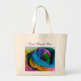 Dyed Bright Here Canvas Bag