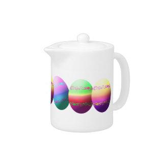 Dyed Easter Eggs Design Teapot