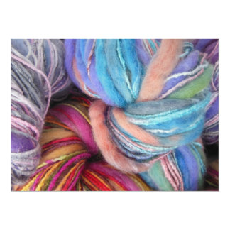 Dyed Knitting Yarn 5.5x7.5 Paper Invitation Card