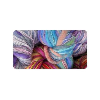 Dyed Knitting Yarn Label