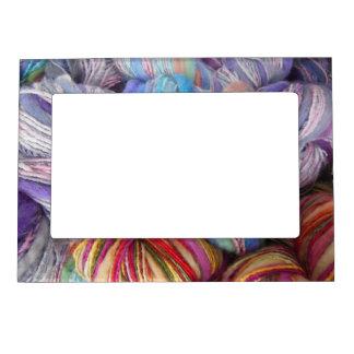 Dyed Knitting Yarn Magnetic Photo Frame