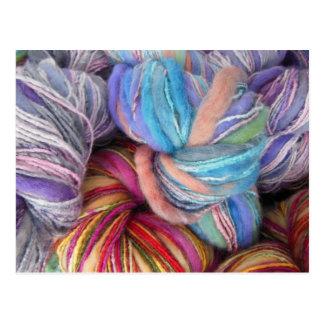 Dyed Knitting Yarn Postcard