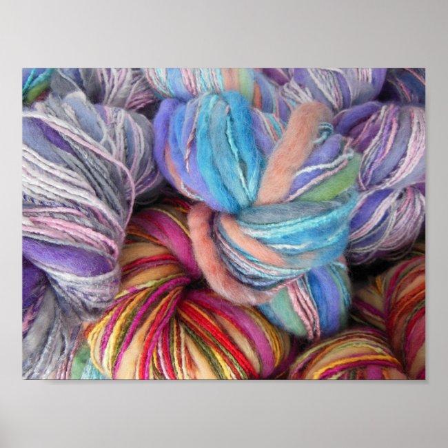 Dyed Knitting Yarn Print