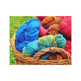 Dyed Wool for Knitting Canvas Print