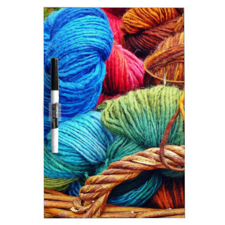 Dyed Wool for Knitting Dry-Erase Board