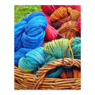 Dyed Wool for Knitting Flyer