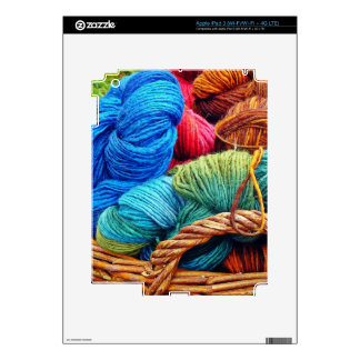 Dyed Wool for Knitting iPad 3 Decal