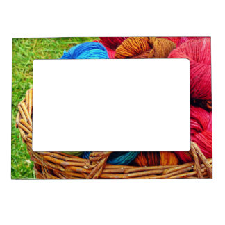 Dyed Wool for Knitting Magnetic Picture Frame