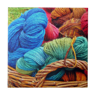 Dyed Wool for Knitting Tile
