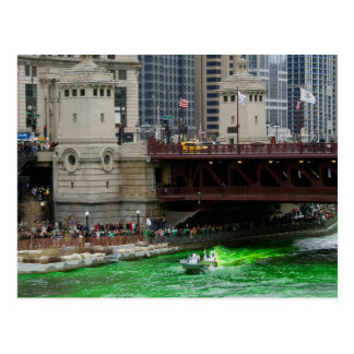 Dyeing the Chicago River Green! Postcard