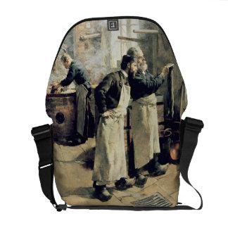 Dyeing workshop in the Gobelins, 19th century Messenger Bag