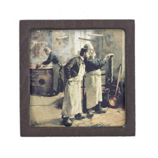 Dyeing workshop in the Gobelins, 19th century Premium Jewelry Boxes