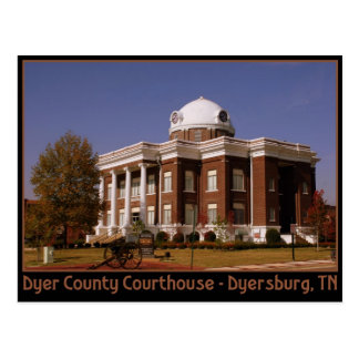 Dyer County Courthouse - Dyersburg, TN Postcard