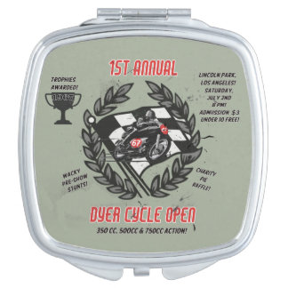 Dyer Cycle Open Compact Makeup Mirror