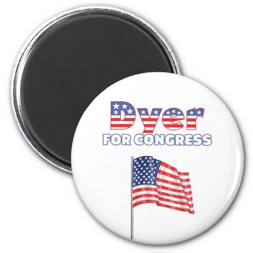 Dyer for Congress Patriotic American Flag Refrigerator Magnet