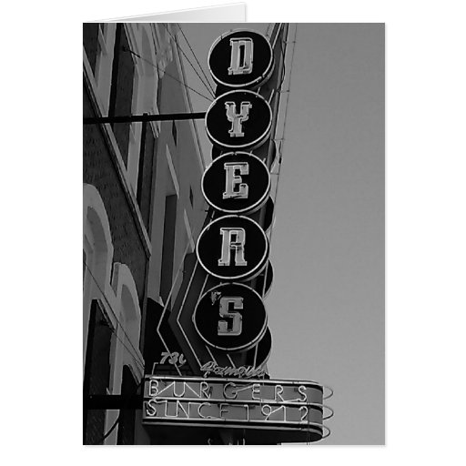 Dyers Memphis Tennessee Greeting Cards