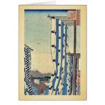 Dyers quarter, Kanda by Ando, Hiroshige Ukiyoe Cards