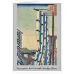 Dyers quarter, Kanda by Ando, Hiroshige Ukiyoe Greeting Card