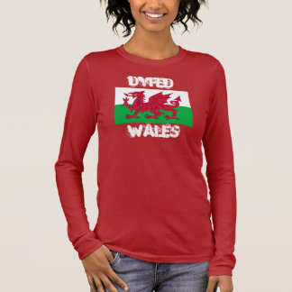 Dyfed, Wales with Welsh flag Long Sleeve T-Shirt