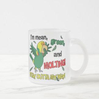 DYH Amazon Molting 10 Oz Frosted Glass Coffee Mug