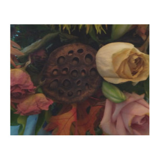 Dying Bouquet Wood Wall Decor