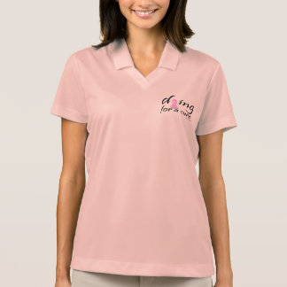 dying for a cure polo shirt