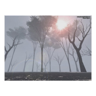 Dying Forest In Fog Poster