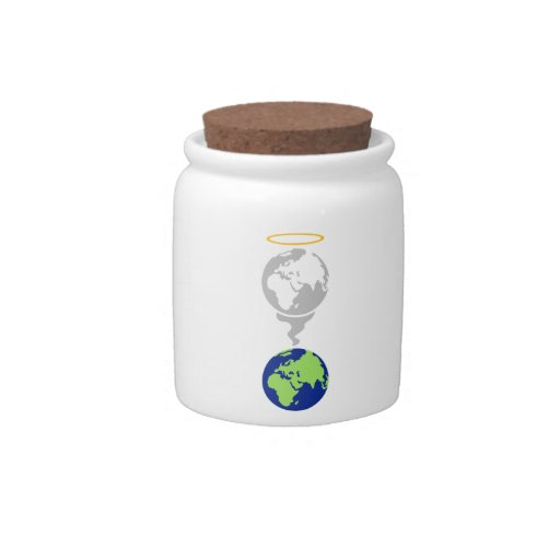 Dying Planet Candy Jar