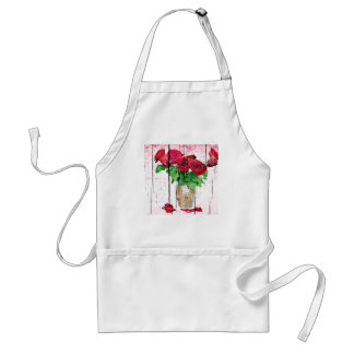 Dying Red Roses Aprons