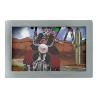 Dying to Ride Rectangular Belt Buckle