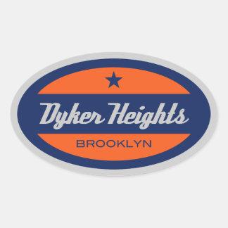 Dyker Heights Oval Sticker