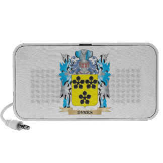 Dykes Coat of Arms - Family Crest Notebook Speakers