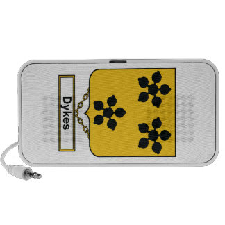 Dykes Family Crest Mini Speakers