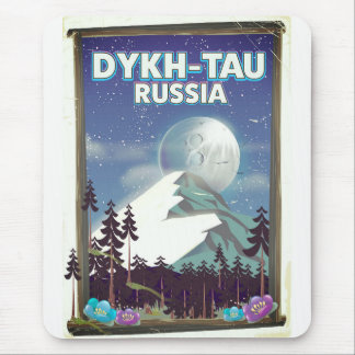 Dykh-Tau Russia travel poster. Mouse Pad