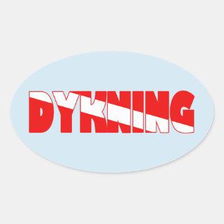 Dykning (Danish) Oval Sticker