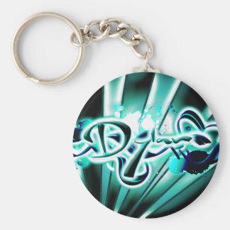Dylan Basic Round Button Keychain
