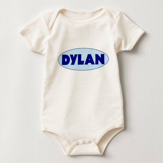 DYLAN BLUE Baby name T-shirt, creeper