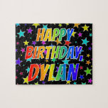 "[ Thumbnail: ""Dylan"" First Name, Fun ""Happy Birthday"" Jigsaw Puzzle ]"