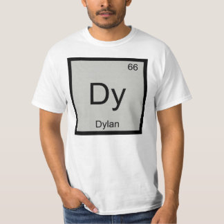 Dylan Name Chemistry Element Periodic Table T-Shirt